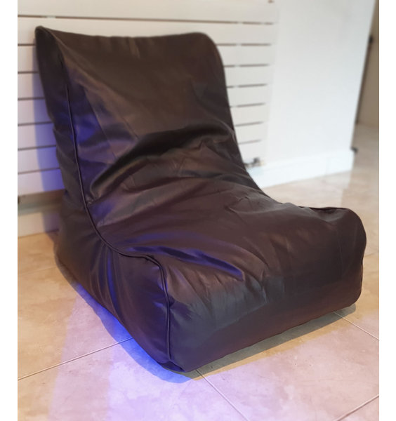 Gaming Chair, Large, Chocolate Brown, Faux Leather Lounger Bean Chair