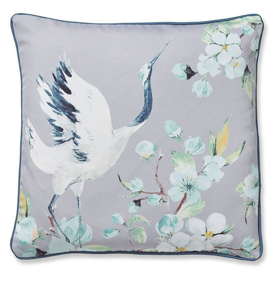 Catherine Lansfield Heron Cushion Cover Grey, 43x43cm