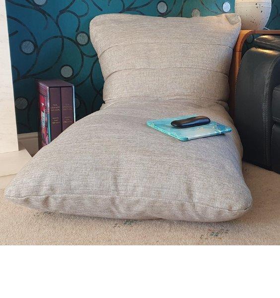 Grey Ribbed Bean Bag Lounger