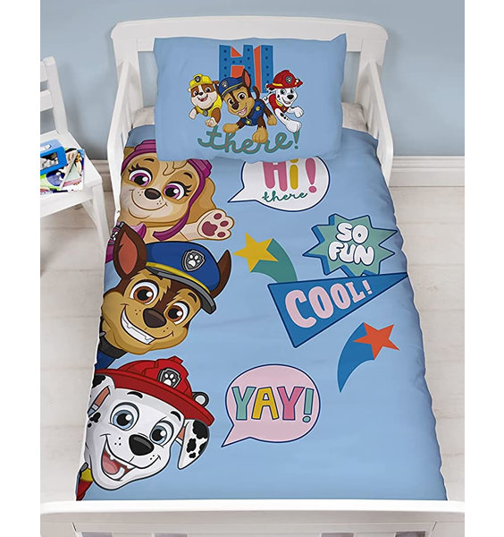 Blue, Paw Patrol Toddler Duvet with Marshall, Sky and Chase.