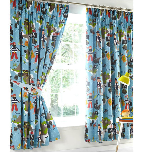 Pirate Map Curtains 54s
