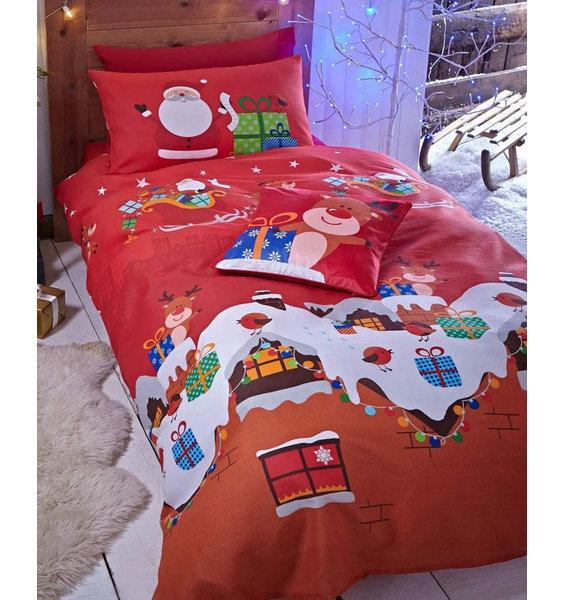 Catherine Lansfield Santas Christmas Present Toddler Duvet Set