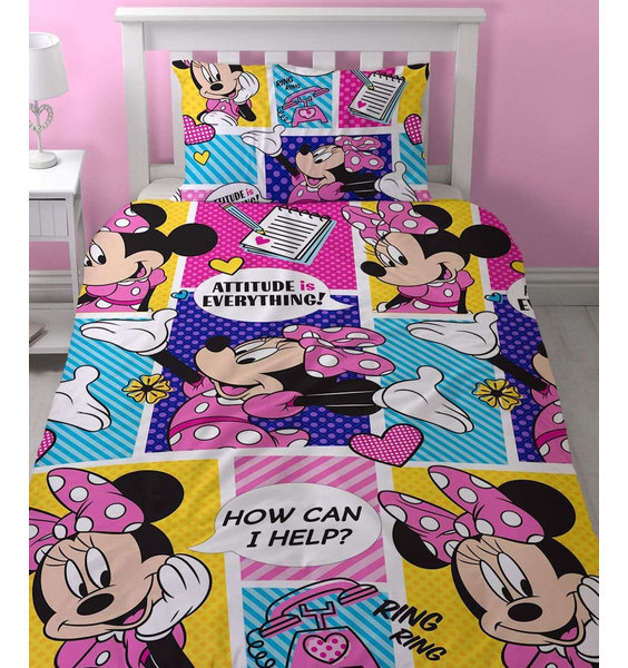 Minnie Mouse  Toddler Cotbed Bedding - Attitude
