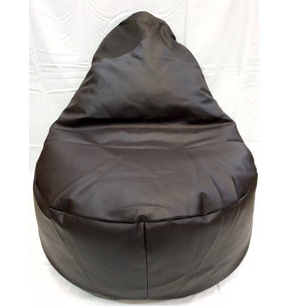 Adult Sized Large Faux Leather Slouch Bean Chair - Brown
