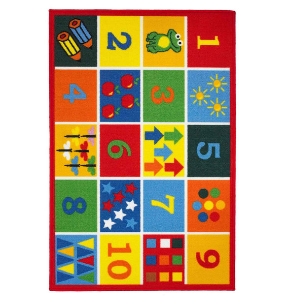 123 Numbers, Counting Rug 80  x 120 cm