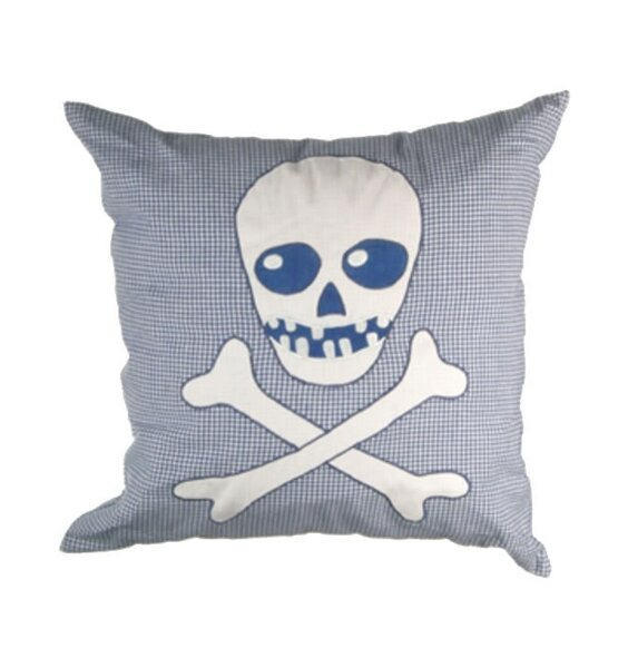 Skull and Crossbones Cushion Cover
