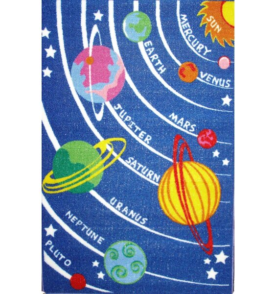 Planets Rug Children S Solar System Rug Featuring All The