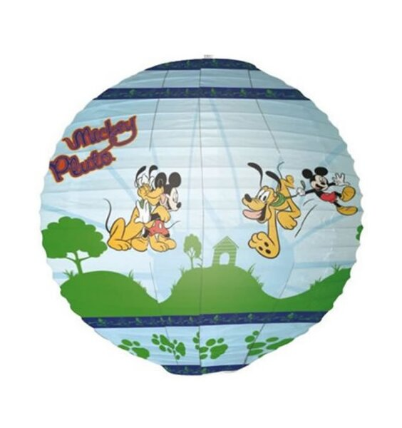Mickey Mouse and Pluto, Large 34 cm Paper Lantern