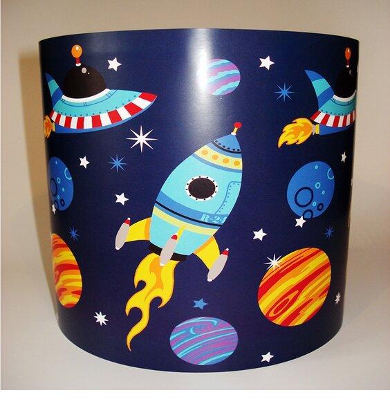 Space Rocket Light Shade - Blue