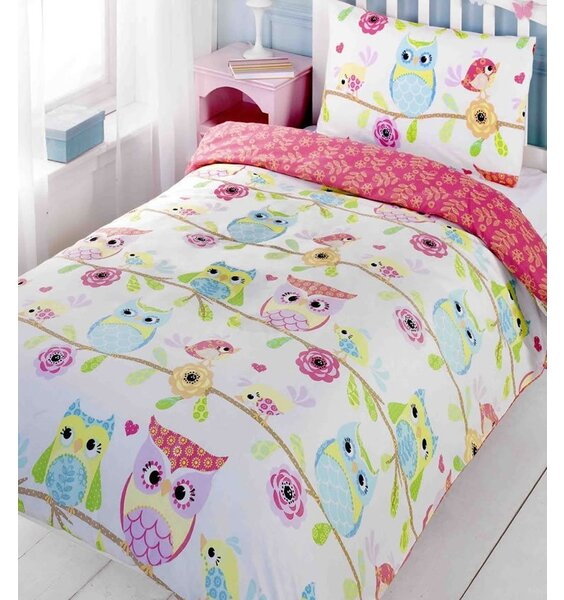 Owl And Friends, Kids Single Bedding Set With Matching