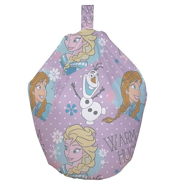 Disney Frozen Bean Bag With Snowflakes Elsa Olaf Amp Anna