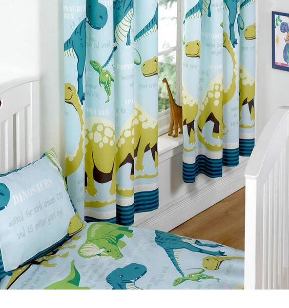 Dinosaur Curtains From The Boys Blue Facts Range 66 X 54