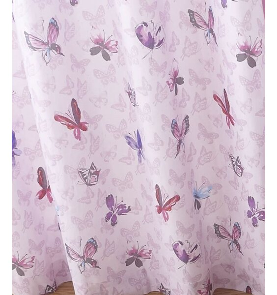 Glamour Princess, Butterfly Curtains, 66 X 72 Inch With An