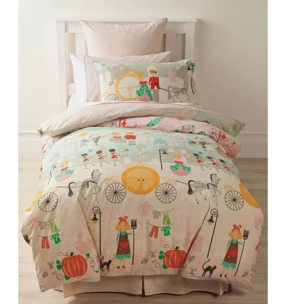 Cinderella, Pure Cotton Double Duvet. Designed to tell the whole story from top to bottom.