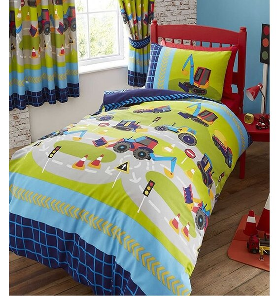 Diggers and Trucks Double Duvet