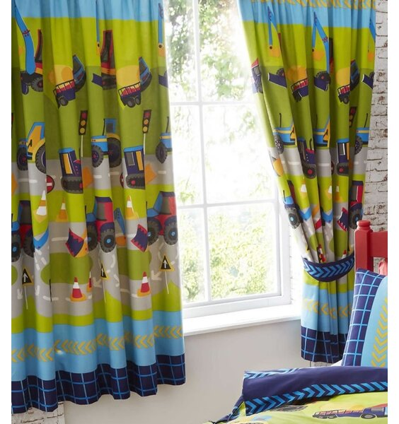 Diggers and Trucks Curtains 72s