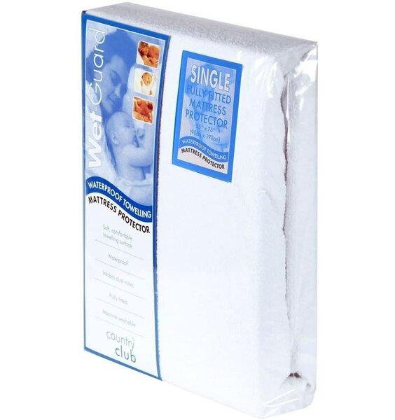 Single Waterproof Mattress Protector In White