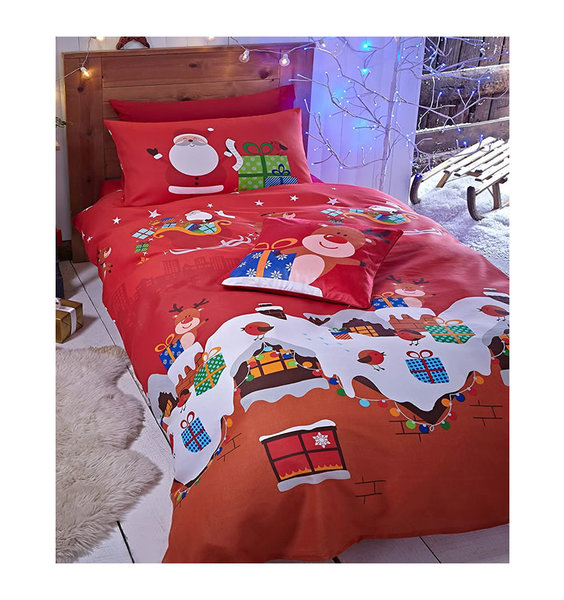 Catherine Lansfield Santas Christmas Present Single Duvet Set