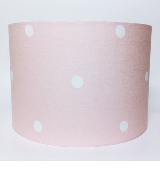 Pink Spotted Large Fabric Light / Pendant Ceiling Shade