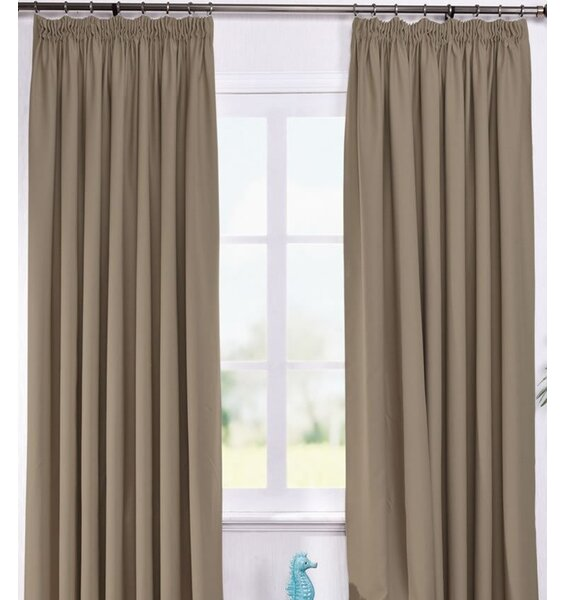 Dusky Brown Thermal Black Out Curtains