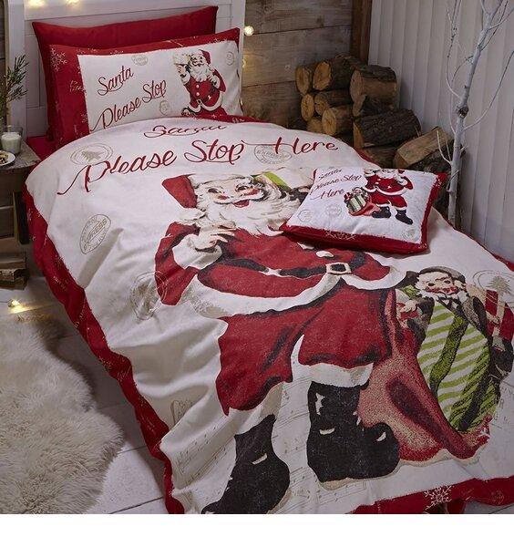Catherine Lansfield Retro Santa King Duvet Cover