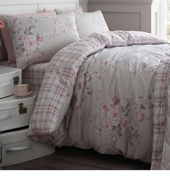 c833481ac38 main image. main image. main image. main image. product-brand. Catherine  Lansfield Canterbury Brushed Check Double Duvet Set Grey