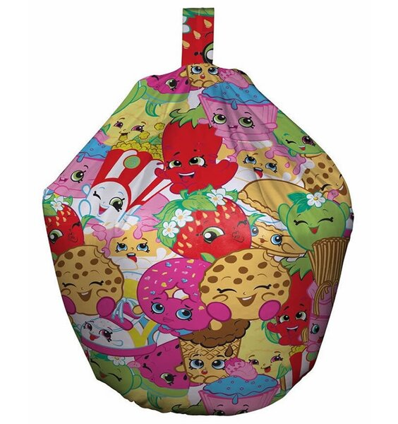 Multi coloured, Shopkins Bean Bag. Small size for toddlers.