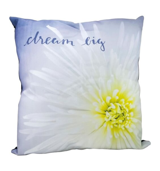 Dream Big, Floral Cushion