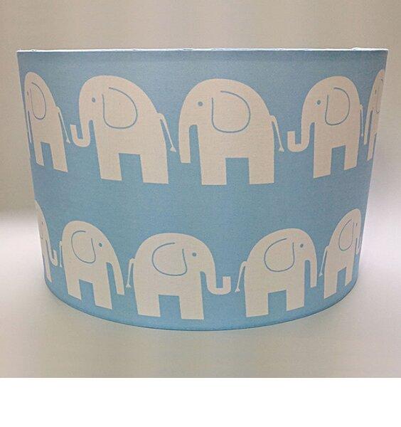 Blue Elephant, Large Fabric Light Shade