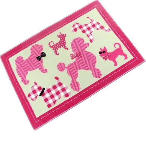 Pink Puppies Rug 60 x 90 cm