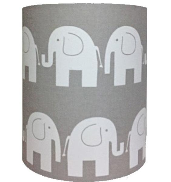Grey Elephant, Medium Fabric Light Shade