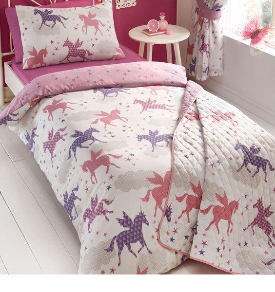 Unicorns and Stars King Size Bedding