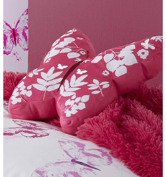 Catherine Lansfield Butterfly 3D Cushion Pink