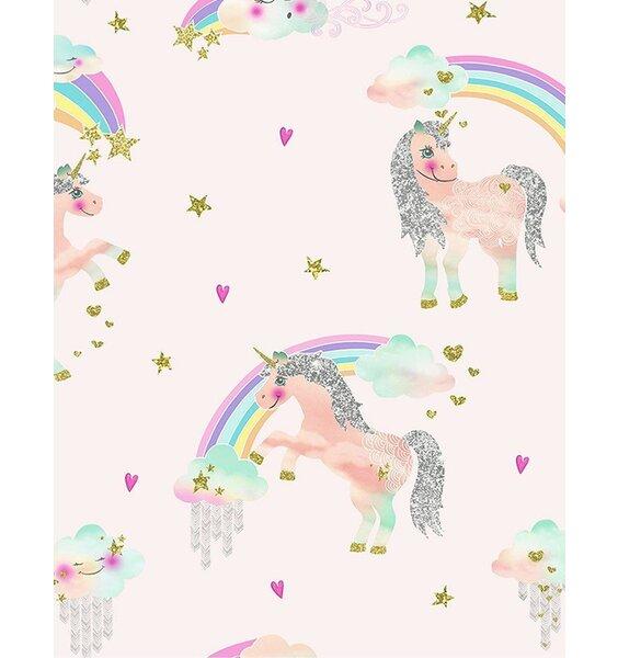 Rainbow Unicorn Wallpaper - Pink