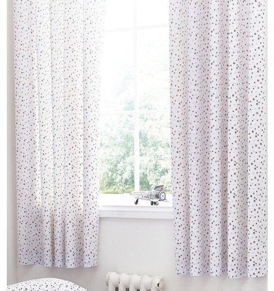 Star Print Eyelet Curtains 66