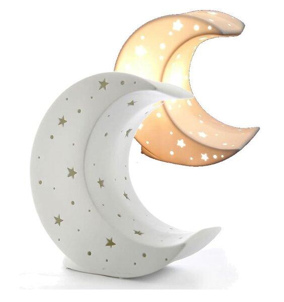 Half Moon Shaped Night Light - 3D Ceramic