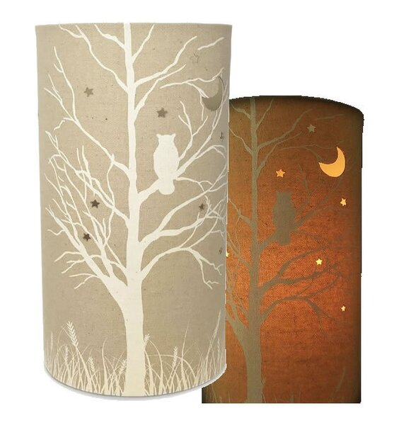 Owls, Fabric Table / Bedside Lamp