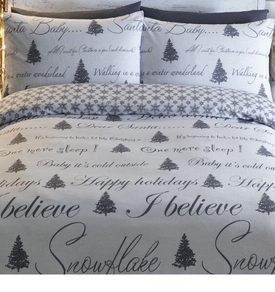 Its Christmas Single Bedding - Grey