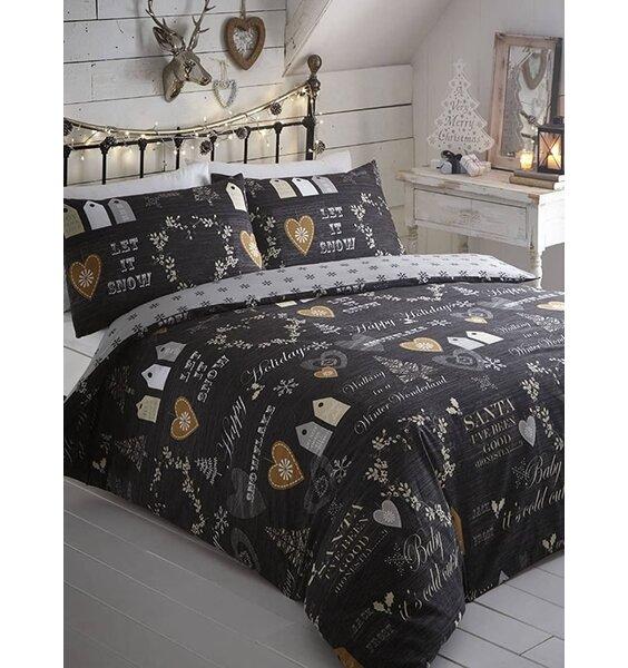 Simply Christmas, Single Bedding - Black