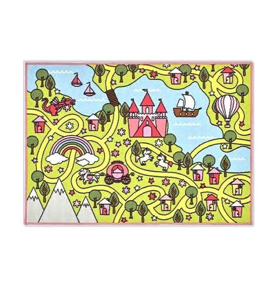 Unicorn Fairy Tale World Playmat - 100 x 130 cm