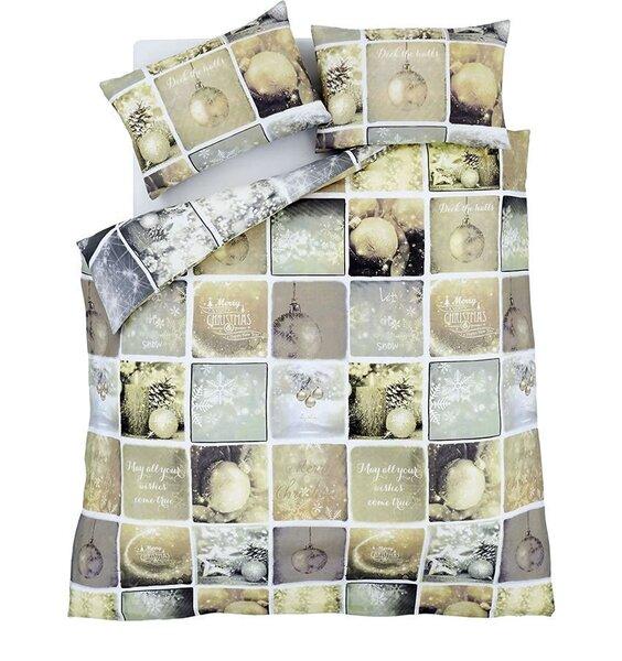 Catherine Lansfield Christmas Greetings SingleDuvet Cover Set