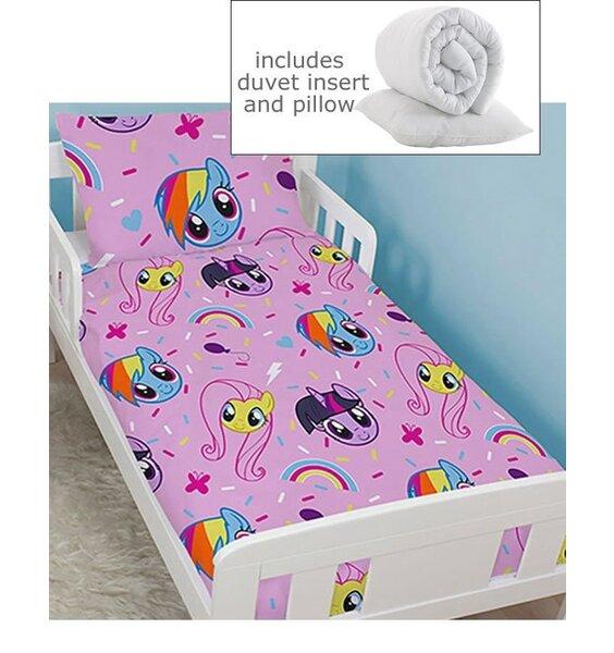 Pink, My Little Pony Toddler Duvet, Junior Pillowcase and Quilt Insert.