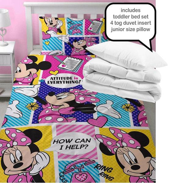Minnie Mouse 4 Piece Toddler Bedding - Attitude