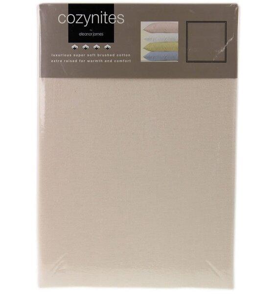 Cream Single Sheet and Pillowcase Set - Brushed Cotton