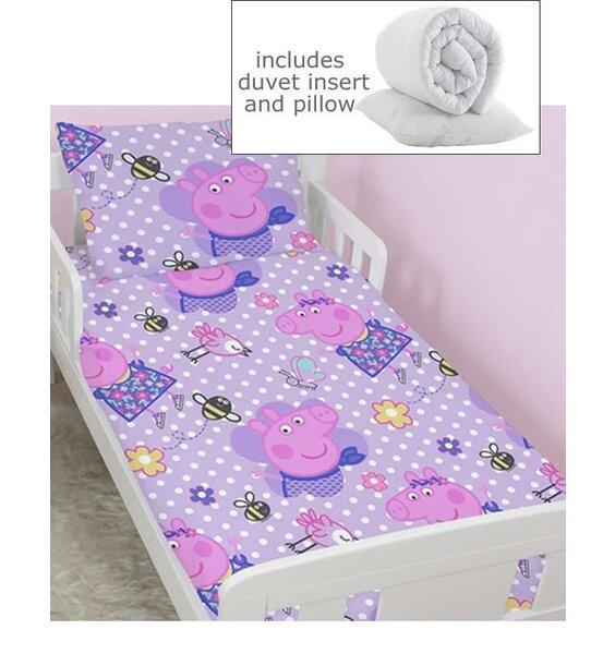 Peppa Pig Toddler Bedding Set, Including Duvet & Pillow