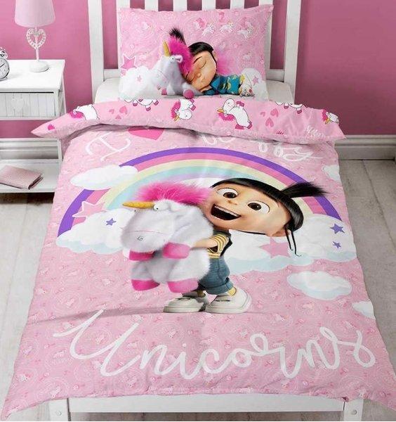 Unicorn Single Bedding Set Pink I Love Fluffy Unicorns