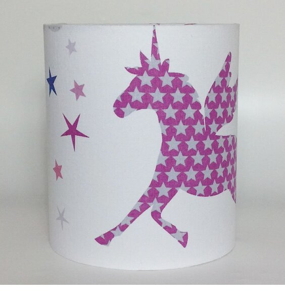 Unicorns and Stars Medium Fabric Light Shade