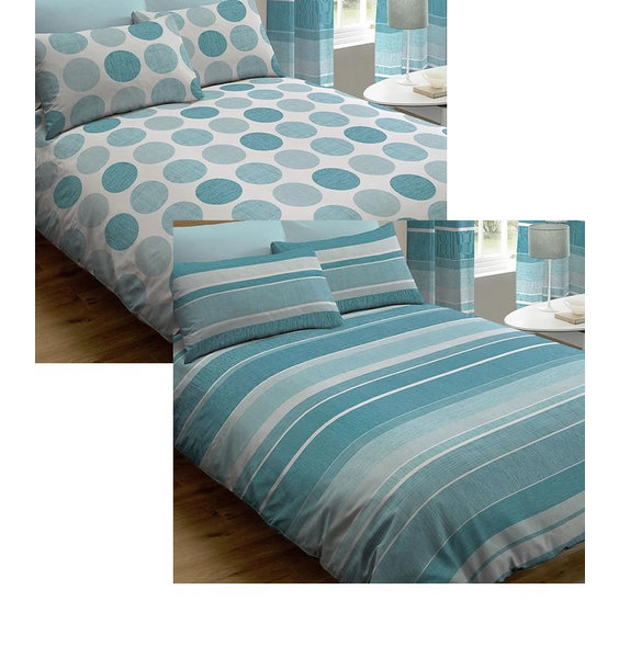 Two Pack - Blue Spots / Stripes King Size Duvet Covers