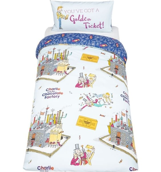 Roald Dahl Willy Wonka Single Bedding Available At