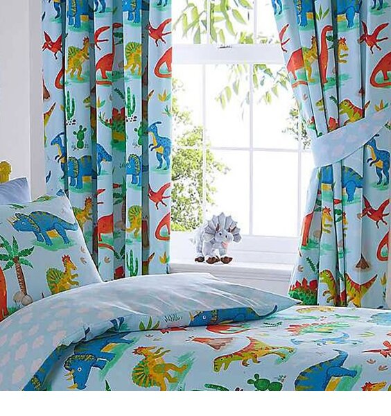 Dinosaur World Curtains 72s